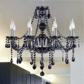 Black hanging crystal chandelier dining room on sale (WH-CY-18)