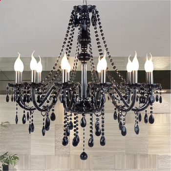 Black hanging crystal chandelier dining room on sale (WH-CY-18) - Wellhouselighting.com
