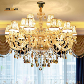 Unique large chandeliers with lampshade For sale (WH-CY-19)