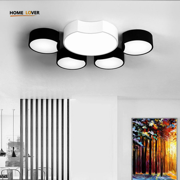 Modern Led Ceiling Chandeliers For Living Room Bedroom Square/Rectangle White/Black Home