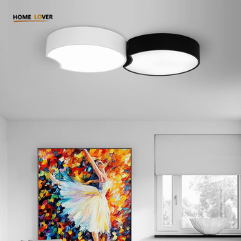 Modern Led Ceiling Chandeliers For Living Room Bedroom Square/Rectangle White/Black Home - Wellhouselighting.com