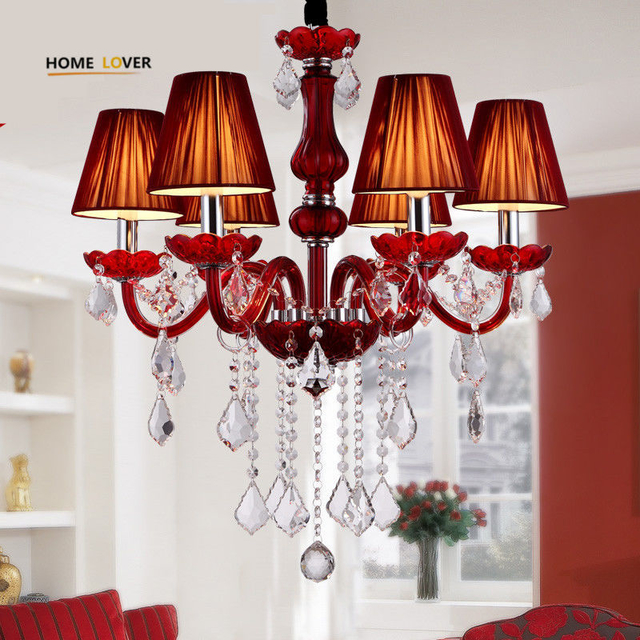 Red crystal chandelier online purchase (WH-CY-13) - Wellhouselighting.com