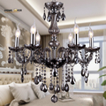 Top QualityMedium sized Modern Grey crystal chandeliers For Living room Bedroom Dining room Lighting (WH-CY-08)