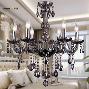 China Medium sized Modern Grey crystal chandeliers For Living room Bedroom Dining room Lighting (WH-CY-08) retail