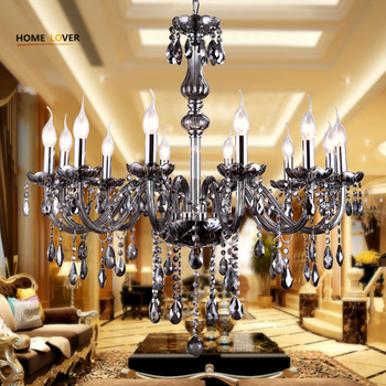 Medium sized Modern Grey crystal chandeliers For Living room Bedroom Dining room Lighting (WH-CY-08) - Wellhouselighting.com