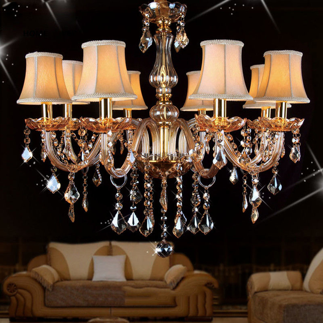 Most popular chandeliers with lampshade for Living room Bedroom Lighting (WH-CY-05)