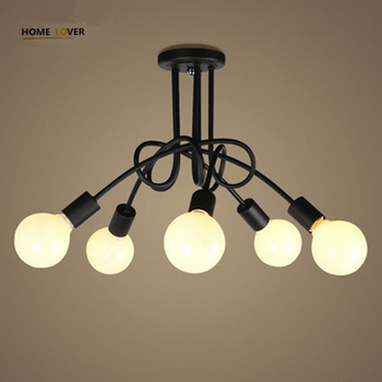 New Fashion Modern led ceiling lights American Countryside Dining Room Clothing store ceiling lamp - Wellhouselighting.com