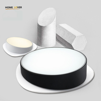 Modern LED Ceiling Light lamp Creative Personality Round Indoor Ceiling Lamp Dining Room Home 110/220V Black/White