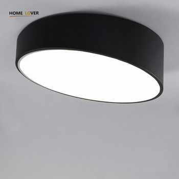 Modern LED Ceiling Light lamp Creative Personality Round Indoor Ceiling Lamp Dining Room Home 110/220V Black/White - Wellhouselighting.com