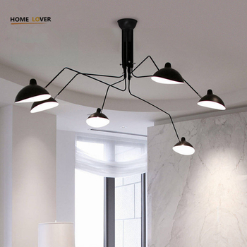 Living room ceiling lamp for home lighting Black 3/6 Lights luminaria led Bedroom Kitchen Vintage ceiling lights