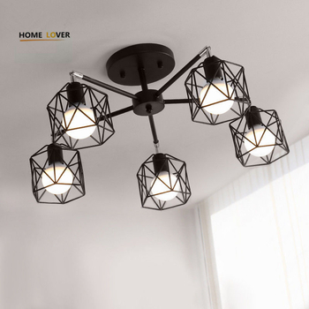 Vintage ceiling lamp with lamp cover shades for indoor home lighting luminarias para teto Bedroom Living room Kitchen