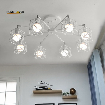 Vintage ceiling lamp with lamp cover shades for indoor home lighting luminarias para teto Bedroom Living room Kitchen - Wellhouselighting.com