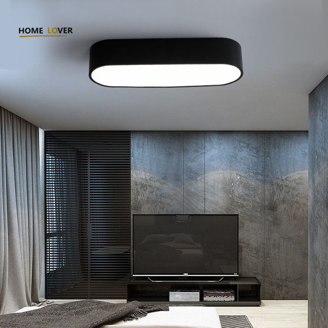 Ceiling lights for Living room Bedroom Kitchen Light Fixture Lamparas de techo White/Black Color Flush Mount - Wellhouselighting.com