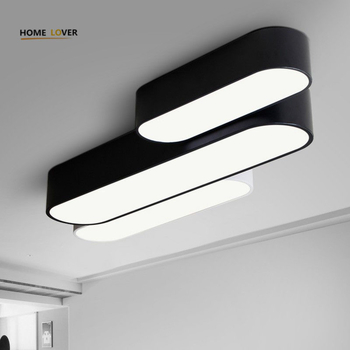 Ceiling lights for Living room Bedroom Kitchen Light Fixture Lamparas de techo White/Black Color Flush Mount