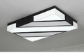 Top QualityNew Dsigner LED ceiling lights black white lamparas de techo metal frame with acrylic cover bedroom dinning lighting