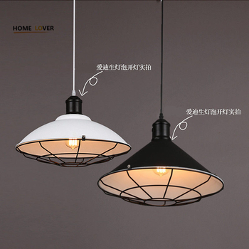 Loft vintage pendant lights Iron Kitchen Home Decoration E27 Edison bulb lampara black painted pulley pendant light - Wellhouselighting.com