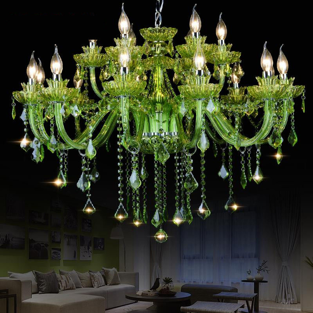 Glass Green chandelier Lighting (WH-CY-04) - Wellhouselighting.com