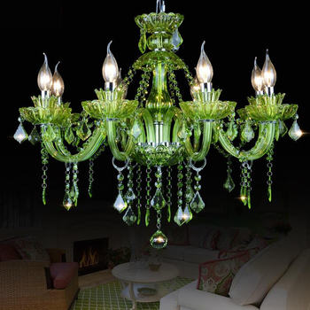 Glass Green chandelier Lighting (WH-CY-04)