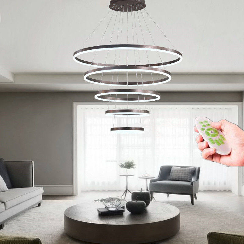 Modern Led Ring Pendant Lights For Living Room Dining Kitchen Re Lamp Hanging Ceiling