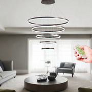 China Modern LED Ring Pendant Lights For Living Room Dining room Kitchen Lustre Pendant Lamp Hanging Ceiling lamp retail