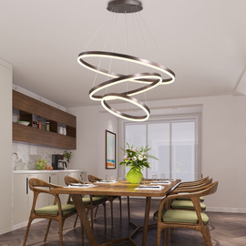 Modern LED Ring Pendant Lights For Living Room Dining room Kitchen Lustre Pendant Lamp Hanging Ceiling lamp