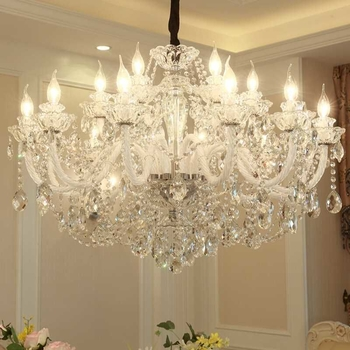 White chandeliers for dining rooms (WH-CY-02)