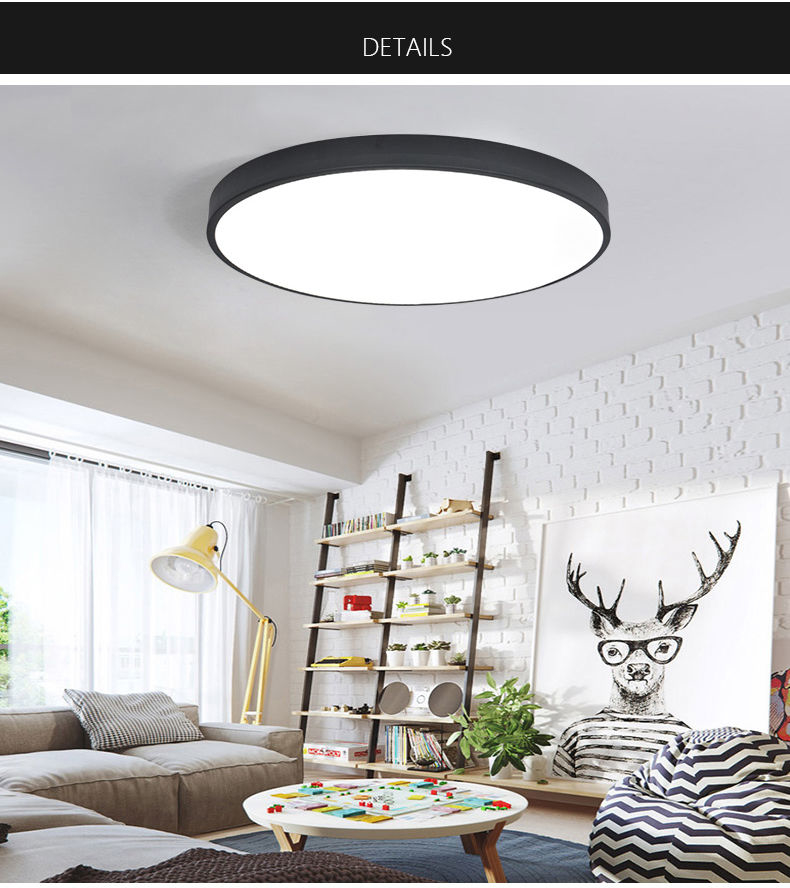 Black/White Modern Led Ceiling Lights For Living Room Bedroom AC85-265V Indoor lighting Ceiling Lamp